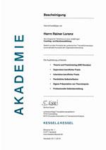 Zertifikat TA Coaching- u. Beraterausbildung